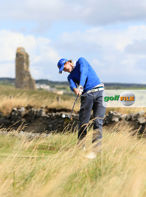 Eugene Smith (Ardee) on the 17th tee during the South of Ireland Amateur Open Championship 5th Round at Lahinch Golf Club  30th July 2013 <br /> Picture:  Thos Caffrey / www.golffile.ie