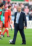 Austrian coach Josef Hickersberger before the Austria-Poland match at Euro 2008. Austria-Poland 06122008, Wien, Austria