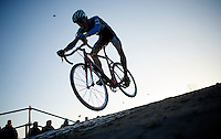 Matthias Van de Velde (BEL/Autoglas Wetteren) airborne<br /> <br /> CX Leuven Soudal Classic 2015
