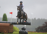 Blair Atholl, Scotland, UK. 12th September, 2015. Longines  FEI European Eventing Championships 2015, Blair Castle. Izzy Taylor (GBR) riding KBIS Briarlands Matilda during the Cross country phase © Julie Priestley