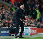 Diego Simeone manager of Atletico Madrid during the UEFA Champions League match at Anfield, Liverpool. Picture date: 11th March 2020. Picture credit should read: Darren Staples/Sportimage