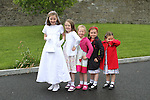 Noreen O'Malley with her sisters and cousins at Slane NS Communion...(Photo credit should read Jenny Matthews www.newsfile.ie)....This Picture has been sent you under the conditions enclosed by:.Newsfile Ltd..The Studio,.Millmount Abbey,.Drogheda,.Co Meath..Ireland..Tel: +353(0)41-9871240.Fax: +353(0)41-9871260.GSM: +353(0)86-2500958.email: pictures@newsfile.ie.www.newsfile.ie.