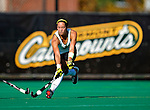25 October 2009: University of Vermont Catamount midfielder Brittanie Booker, a Junior from Wilmington, DE, in action against the Columbia University Lions at Moulton Winder Field in Burlington, Vermont. The Lions shut out the Catamounts 1-0. Mandatory Credit: Ed Wolfstein Photo