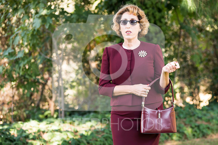 "Rossy de Palma pose to the photographers during the shooting of the spanish film ""Toc Toc"" in Madrid. October 03, Spain. 2016. (ALTERPHOTOS/BorjaB.Hojas)"