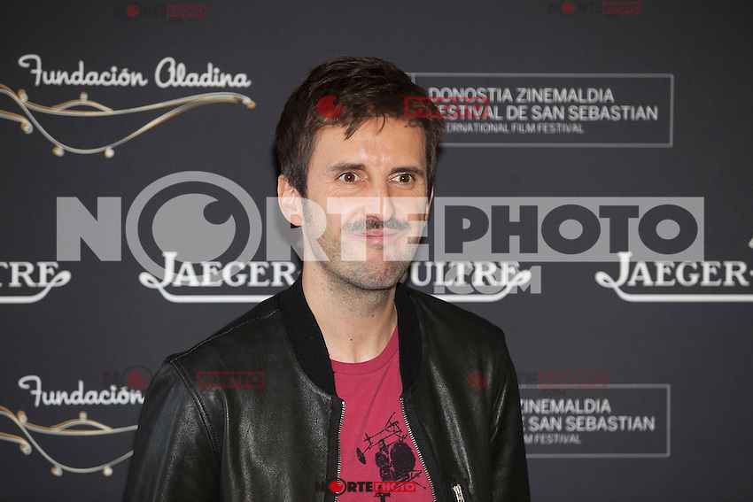Actor Julian Lopez poses during Aladina Foundation presentation at 63rd Donostia Zinemaldia (San Sebastian International Film Festival) in San Sebastian, Spain. September 18, 2015. (ALTERPHOTOS/Victor Blanco) /NortePhoto.com