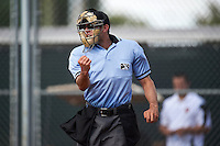 Umpire Alex MacKay during an instructional league game between the Colorado Rockies and San Francisco Giants on October 7, 2015 at the Giants Baseball Complex in Scottsdale, Arizona.  (Mike Janes/Four Seam Images)