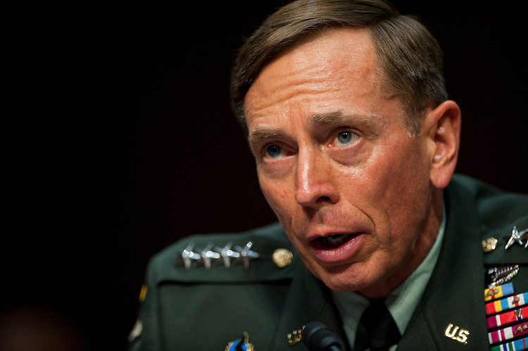 WASHINGTON, DC - June 23: Gen. David H. Petraeus testifies during the Senate Select Intelligence confirmation hearing on his nomination to be director of the Central Intelligence Agency (CIA). (Photo by Scott J. Ferrell/Congressional Quarterly)