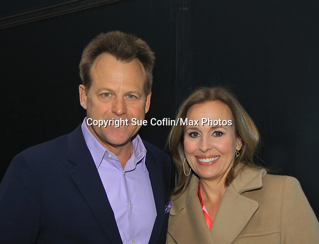 "General Hospital's Kin Shriner ""Scotty Baldwin"" and Genie Francis ""Laura Spencer"" helped GH celebrate its 50th Anniversary as they  taped Showbiz Tonight with host A.J. Hammer on April 1, 2013 in New York City, New York.  (Photo by Sue Coflin/Max Photos)"