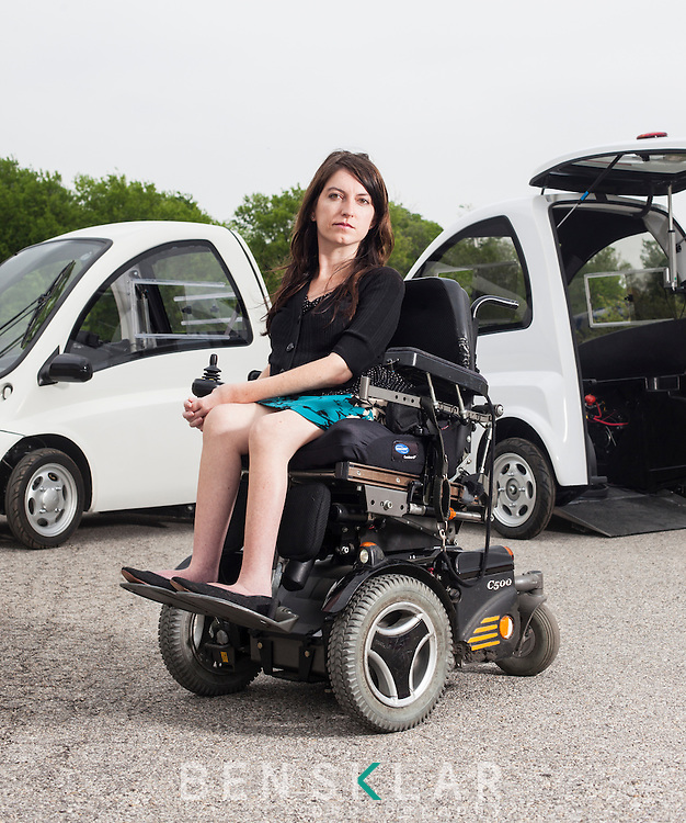Stacy Zoern, founder and CEO of Community Cars, helped fundraise and produce the Kenguru. The Kenguru is a wheelchair friendly single occupancy vehicle.