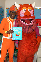 LOS ANGELES - MAR 1:  Lance Robertson, DJ Lance Rock, Yo Gabba Gabba Characters at the Read Across America Event at the Ardella B. Tibby K – 8 School on March 1, 2019 in Compton, CA