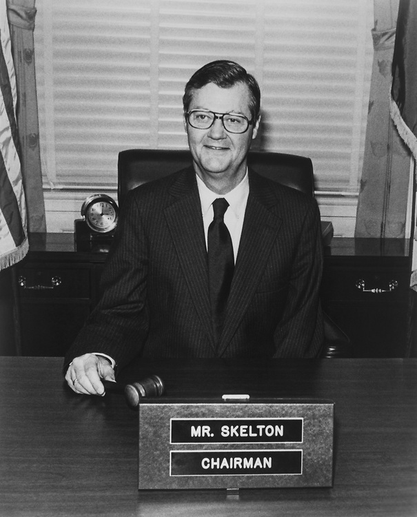 Rep. Ike Skelton, D-Mo., in his office, on Aug, 18, 1983. (Photo by CQ Roll Call via Getty Images)