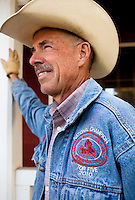 Cowboy rancher, Murray Thompson, the World Champion Reined Cow Horse on his ranch in California