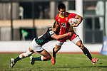 Players in action during the Shanghai Rugby Sevens 2013 at Yuanshen Stadium on October 27, 2013 in Shanghai, China. Photo by Xaume Olleros / The Power of Sport Images