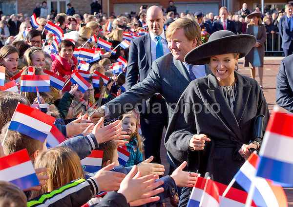 16-02-2016 Streekbezoek - Queen Maxima and King Willem-Alexander during the visit to Ossendrecht in West-Brabant. Photo Credit: PPE/face to face/AdMedia