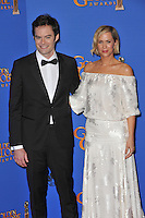 Bill Hader &amp; Kirsten Wiig at the 72nd Annual Golden Globe Awards at the Beverly Hilton Hotel, Beverly Hills.<br /> January 11, 2015  Beverly Hills, CA<br /> Picture: Paul Smith / Featureflash