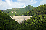 Dam wall and valve house of the Tai Tam Upper Reservoir (1883-88), Tai Tam Group of Reservoirs.<br />