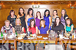 Enjoying a joint birthday was Aileen O'Connor(Abbeyfeale) and Siobhan Kennedy(Tournafulla) centre, pictured here celebrating with family and friends last Saturday night in Leen's Hotel, Abbeyfeale. F l-r: Joan O'Connor, Jane Collins, Aileen O'Connor, Siobhan Kennedy, Karen McKevitt and Karen Kennelly. B l-r: Joanne Daly, Natasha O'Connor, Katriona Galvin, Kathleen Broderick, Mary Woulfe, Marie O'Connor and Annmarie O'Connor.