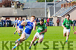 In Action KOR's Tommy Walshe and Maine's Damien Murphy  at the Garveys Senior Football Championship Kerins O'Rahilly V Milltown/Castlemaine at Strand Rd on Sunday