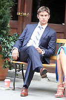 NEW YORK CITY,NY - July 17, 2012: Chace Crawford on the set of  Gossip Girl in New York City. © RW/MediaPunch Inc. *NORTEPHOTO*<br />