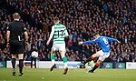 08.11.2019 League Cup Final, Rangers v Celtic: Ryan Jack forces a save from Fraser Forster