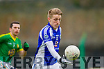 Templenoe's Killian Spillane and Curraha's Seamus Hogan in the AIB GAA Football All Ireland Junior Club Championship.
