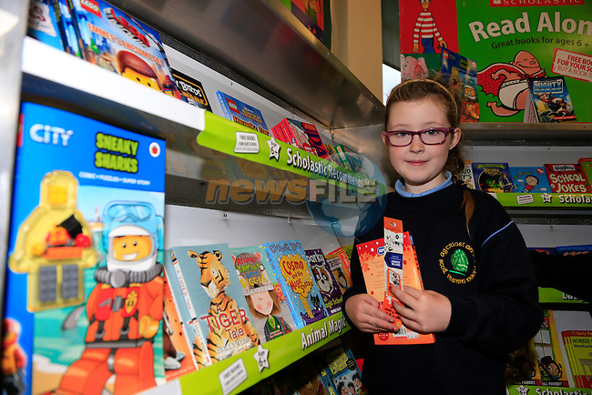 Kasey Cummins at the Parents Council book fair in Duleek Boys National School.<br /> Picture: Fran Caffrey www.newsfile.ie