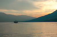 Kootenay Lake Ferry at sunset.