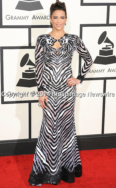 Pictured: Paula Patton<br /> Mandatory Credit &copy; Adhemar Sburlati/Broadimage<br /> The Grammy Awards  2014 - Arrivals<br /> <br /> 1/26/14, Los Angeles, California, United States of America<br /> <br /> Broadimage Newswire<br /> Los Angeles 1+  (310) 301-1027<br /> New York      1+  (646) 827-9134<br /> sales@broadimage.com<br /> http://www.broadimage.com