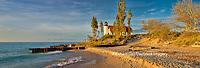 64795-01409 Point Betsie Lighthouse on Lake Michigan, Benzie County, Frankfort, MI