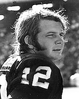 Oakland Raider quarterback Ken &quot;The Snake&quot; Stabler<br />(photo/Ron Riesterer)