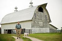 Clyde Harris and Luke at Harris Farm.