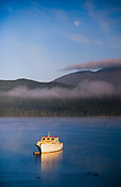 Early morning view across Lake Te Anau to the Kepler Mountains, Fiordland National Park, South Island, New Zealand.