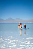 CHILE, Atacama Desert, Tourists at the Salt Flats in the Atacama desert