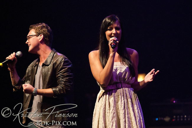 """Devon Barley performing at the Zeiterion Theater for the Fun 107 """"Girls Night Out"""" concert on August 20, 2011"""