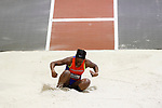 NAPERVILLE, IL - MARCH 11: Amber Williams of UW-Platteville competes in the triple jump at the Division III Men's and Women's Indoor Track and Field Championship held at the Res/Rec Center on the North Central College campus on March 11, 2017 in Naperville, Illinois. (Photo by Steve Woltmann/NCAA Photos via Getty Images)