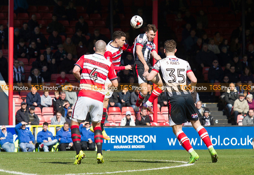 Gavin Gunning of Grimsby T during Grimsby Town vs Doncaster Rovers, Sky Bet EFL League 2 Football at Blundell Park on 1st April 2017