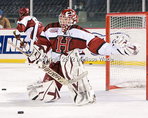 Connor Riley (Harvard - 1) - The Union College Dutchmen defeated the Harvard University Crimson 2-0 on Friday, January 13, 2011, at Fenway Park in Boston, Massachusetts.