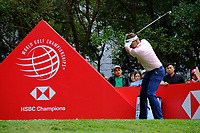 Ian Poulter (ENG) on the 3rd tee  during the 1st round at the WGC HSBC Champions 2018, Sheshan Golf CLub, Shanghai, China. 25/10/2018.<br /> Picture Phil Inglis / Golffile.ie<br /> <br /> All photo usage must carry mandatory copyright credit (&copy; Golffile | Phil Inglis)