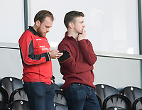 Fleetwood Town fans watch their team in action <br /> <br /> Photographer Chris Vaughan/CameraSport<br /> <br /> The EFL Sky Bet League One - Saturday 23rd February 2019 - Burton Albion v Fleetwood Town - Pirelli Stadium - Burton upon Trent<br /> <br /> World Copyright © 2019 CameraSport. All rights reserved. 43 Linden Ave. Countesthorpe. Leicester. England. LE8 5PG - Tel: +44 (0) 116 277 4147 - admin@camerasport.com - www.camerasport.com