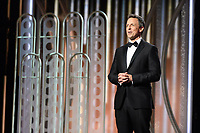 Seth Meyers on stage at the 75th Annual Golden Globe Awards at the Beverly Hilton in Beverly Hills, CA on Sunday, January 7, 2018.<br /> *Editorial Use Only*<br /> CAP/PLF/HFPA<br /> &copy;HFPA/PLF/Capital Pictures
