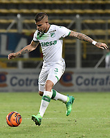 BOGOTÁ -COLOMBIA, 29-04-2017: Juan Quintero jugador de Deportivo Cali en acción durante el encuentro con La Equidad por la fecha 15 de la Liga Águila II 2017 jugado en el estadio Metropolitano de Techo de la ciudad de Bogotá. / Juan Quintero player of Deportivo Cali in action during match against La Equidad for the date 15 of the Aguila League I 2017 played at Metropolitano de Techo stadium in Bogotá city. Photo: VizzorImage/ Gabriel Aponte / Staff