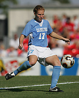 OCT 2, 2005: College Park, MD, USA:  UNC Tarheel midfielder #17 Lori Chalupny takes a touch on the ball while playing the  Maryland Terrapins at Ludwig Field.  UNC won, 4-0. Mandatory Credit: Photo By Brad Smith (c) Copyright 2005 Brad Smith