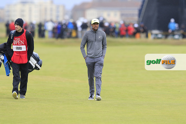 Tony Finau (USA) walks to the 2nd green during Saturday's Round 3 of the 145th Open Championship held at Royal Troon Golf Club, Troon, Ayreshire, Scotland. 16th July 2016.<br /> Picture: Eoin Clarke | Golffile<br /> <br /> <br /> All photos usage must carry mandatory copyright credit (&copy; Golffile | Eoin Clarke)