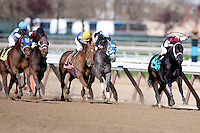 LeBernardin wins an allowance race on the undercard on Wood Memorial day at Aqueduct race track in Ozone Park NY, on April 7, 2012