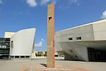 Israel, Tel Aviv Museum of Art (right) and the Cameri Theatre