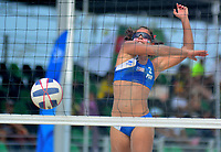 BARRANQUILLA - COLOMBIA, 30-07-2018:Allains Navas (PRO) en Voley playa .Juegos Centroamericanos y del Caribe Barranquilla 2018. Allains Navas (PRO) in Beach volleyball of the Central American and Caribbean Sports Games Barranquilla 2018. Photo: VizzorImage /  Alfonso Cervantes /Contribuidor