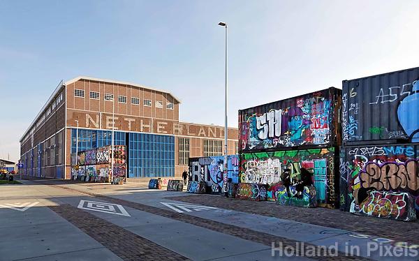 Nederland - Amsterdam-  2019. Graffiti bij de NDSM Werf.    Foto Berlinda van Dam / Hollandse Hoogte