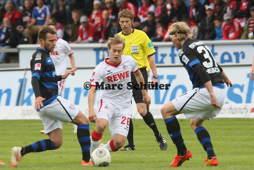 Brad Finne (Koeln) setzt sich durch- FSV Frankfurt vs. 1. FC Koeln, Frankfurter Volksbank Stadion