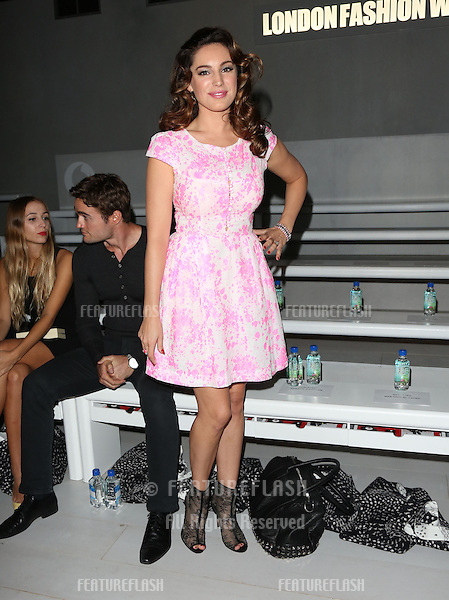 Kelly Brook at the Issa catwalk show as part of London Fashion Week SS13, London. 15/09/2012 Picture by: Henry Harris / Featureflash