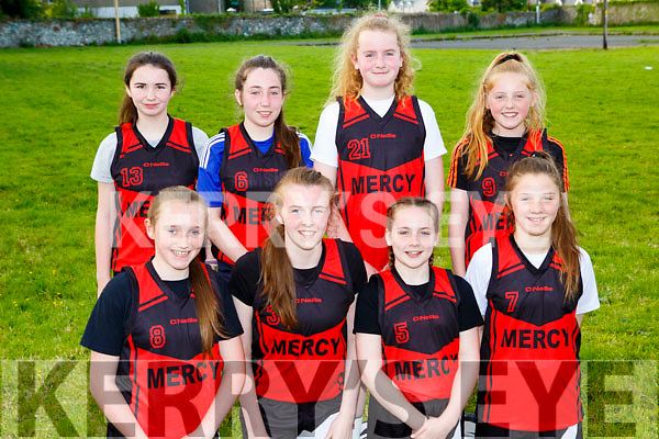 Holy Cross Mercy Killarney who played in the Kerry Primary schools basketball final in Killarney on Wednesday front row l-r: Emma Kelly, Ellen Kennedy, Aisling Crowe, Laura O'Shea, Back row: Kayla Byrne, Ciara White, Emma McCarthyLeah McMahon
